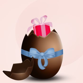 surprise in the Easter chocolate egg