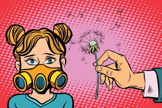 Allergy to dandelion flowers