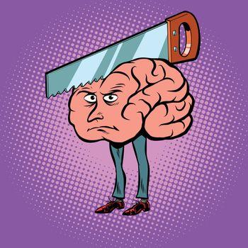 Headache. Saw in the brain