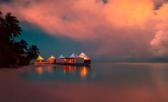 Romantic beach landscape
