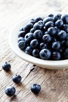 Bowl Of Organic Blueberries