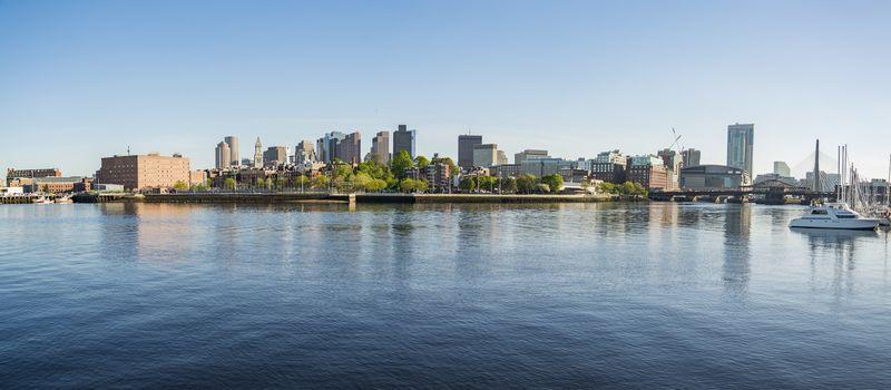 skyline downtown panorama in Boston, Massachusetts