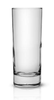 Empty tall narrow glass