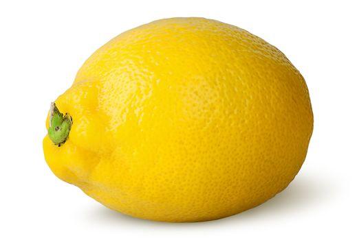 Ripe refreshing lemon turned