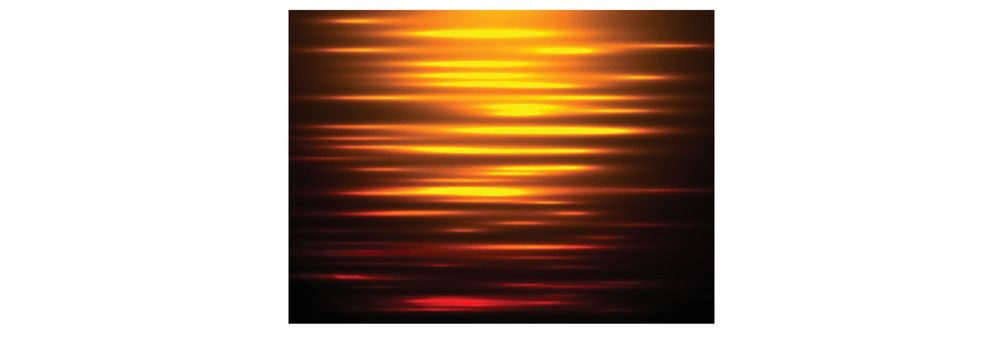Abstract background water reflection at sunset. Vector illustration