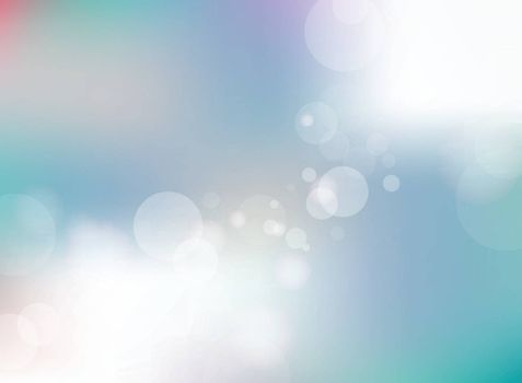Abstract blurred blue gradient background with bokeh background. Vector illustration