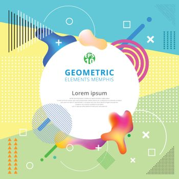 Abstract Geometric elements memphis styles trendy. Modern design poster, cover, card. Vector illustration