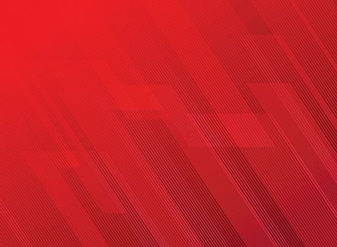 Abstract lines pattern technology on red gradients background. Vector illustration