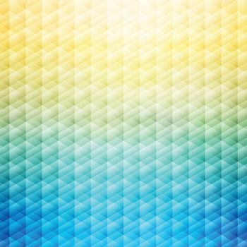 Abstract summer tropical blue and yellow background. Geometric pattern. Vector illustration