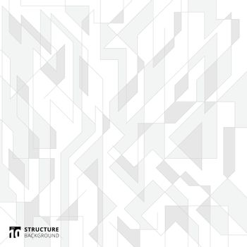 Abstract lines structure white and gray background. Vector illustration