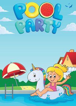 Pool party theme image 2