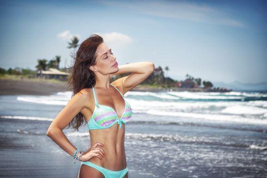 Hot girl on a beach