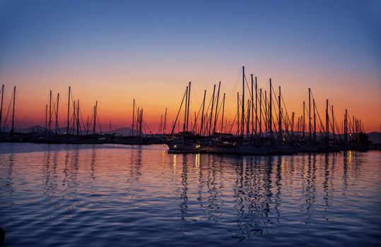 Harbour on sunset