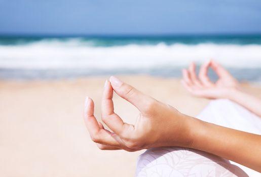 Yoga and zen balance concept