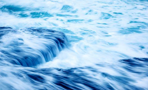 Slow motion waves background