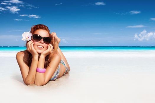Nice girl on the beach