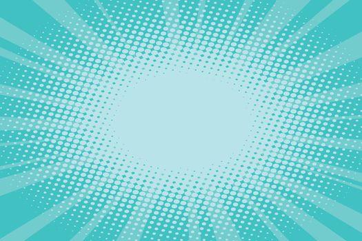 pop art turquoise background