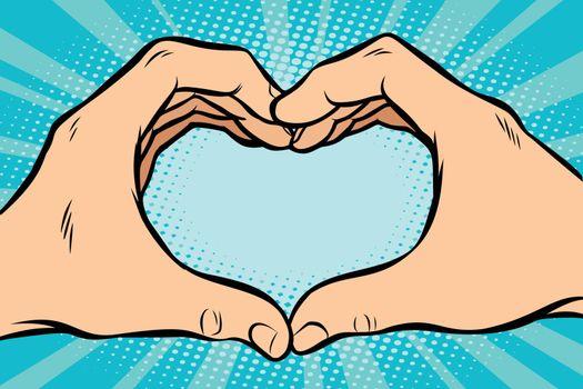 gesture with hands heart
