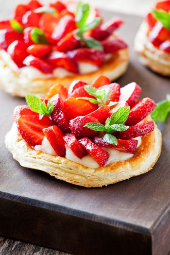 Puff Pastry Strawberry Pies