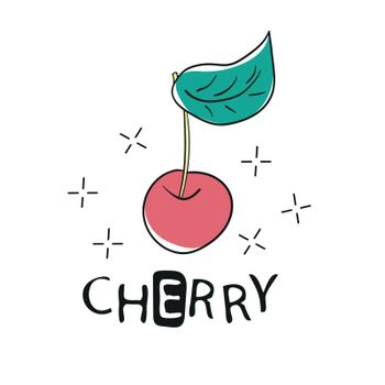 Fashion Funny Slogan with cherry patch for T-shirt and apparels graphic Print