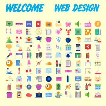 Simple set of vector flat line icons. Contains such Icons as Business, Marketing Shopping Banking E-commerce SEO Technology Medical Education Web Development and more. Vector