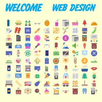 Set vector line icons in flat design with elements for mobile concepts and web apps. Collection modern infographic logo and pictogram. Vector