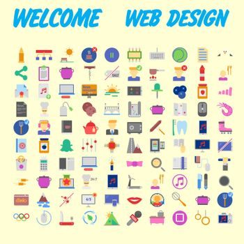 Icon Pack for designers and developers. Icons for business, office company information and services, for websites and apps. Vector