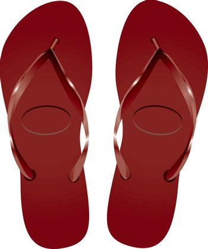 Flip-flops for the beach