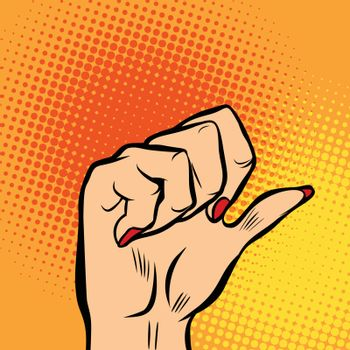 female fist and thumb