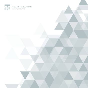 Abstract gray triangles geometric on white background. Vector illustration