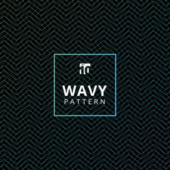 Abstract blue wavy pattern texture and background. Vector illustration