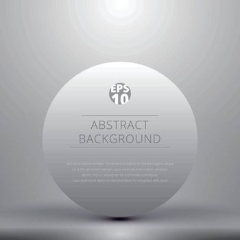 Circle glossy in gray studio room with lighting background. Vector illustration