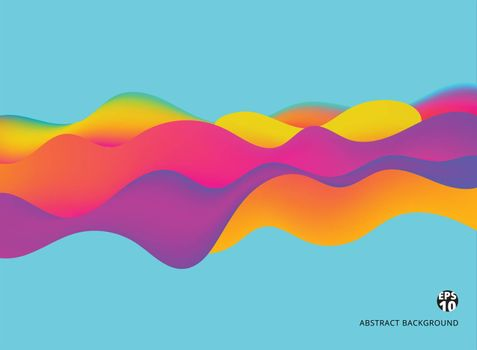 Abstract background colorful liquid dynamic effect futuristic Technology Style. Vector illustration