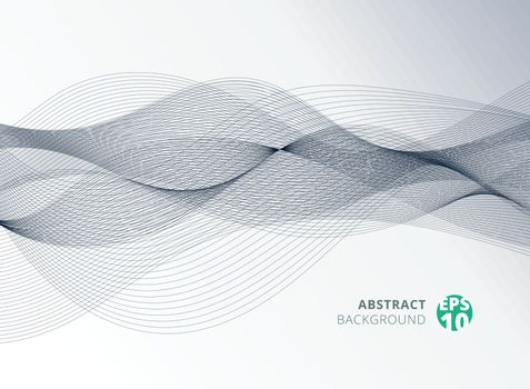 Abstract gray color line wave element for design background. Vector illustration