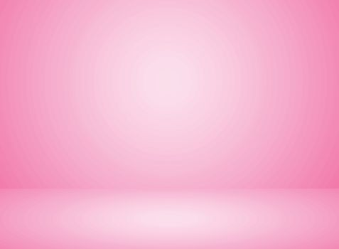 Studio room interior pink color background with lighting effect. Vector illustration