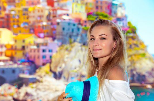 Pretty traveler girl