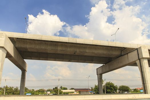 Expressway and blue sky