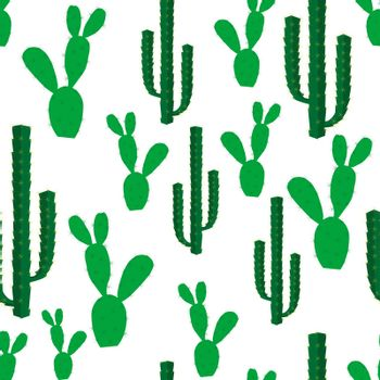 Seamless backgrounds with cactus flowers