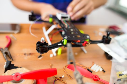 Connecting the component on drone at home