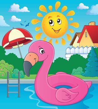 Flamingo float theme image 3