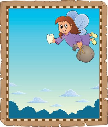Parchment with tooth fairy theme 1 - eps10 vector illustration.