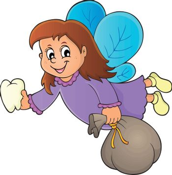 Tooth fairy theme image 1 - eps10 vector illustration.