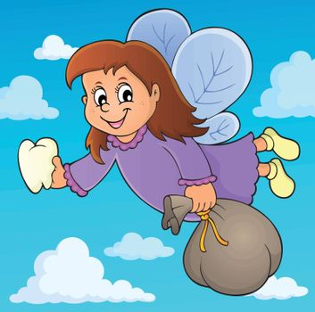 Tooth fairy theme image 3 - eps10 vector illustration.
