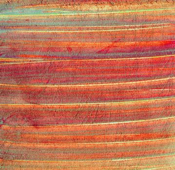 Scratched grunge surface of red old paper texture