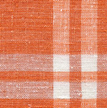 Canvas texture, white and orange with strips.