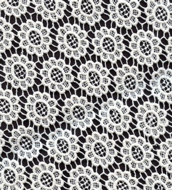 Wedding Lace Pattern. Black and White Color.