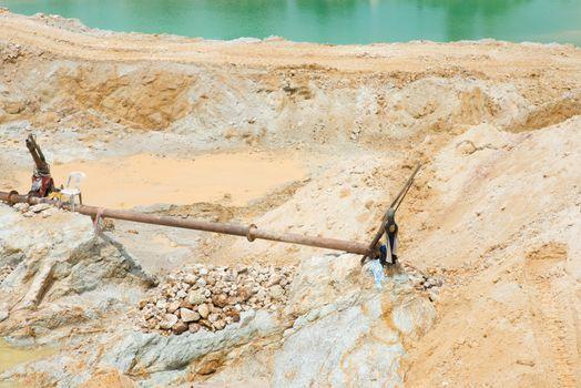 Sand mining activity