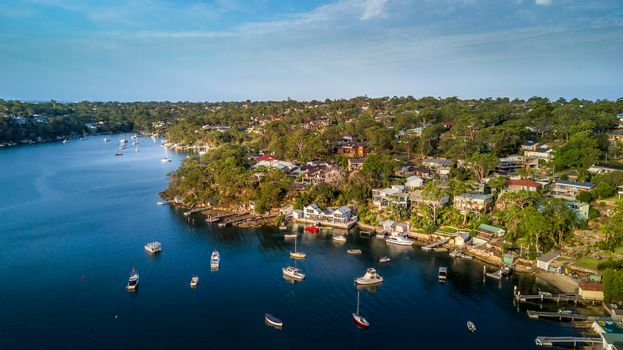 Views over Port Hacking in NSW Australia