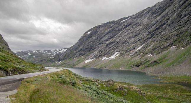 Dramatic mountain landscape in Scandinavia