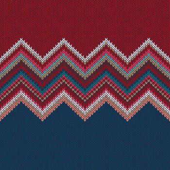 Seamless geometric knitted pattern. Fashion knitwear. Modern background
